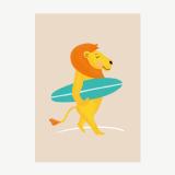 Surfer lion