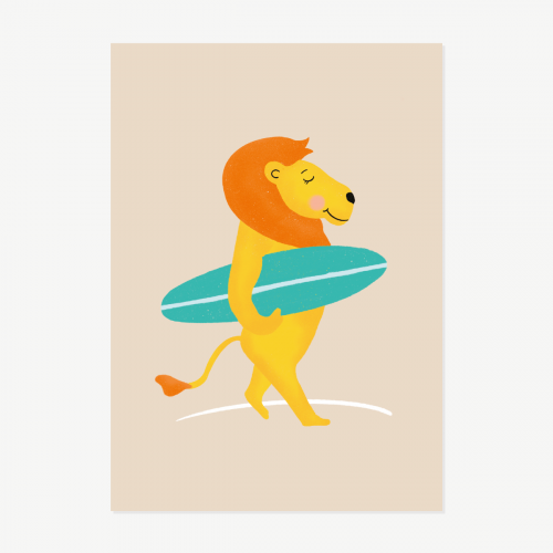 Surfer lion