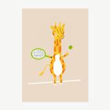 Giraffe Tennis Player