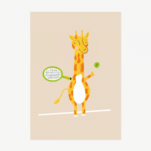 Giraffe Tennis Player
