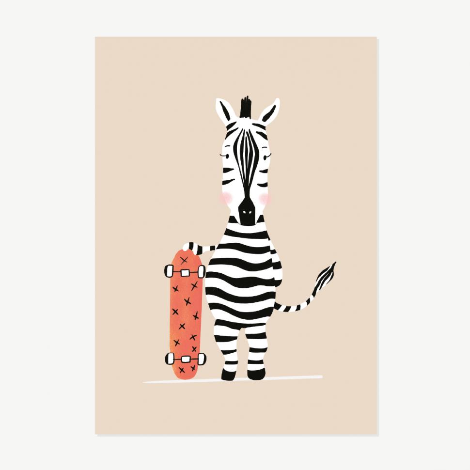 zebra skater