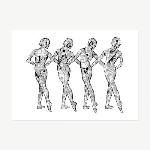 Bailarinas em linha