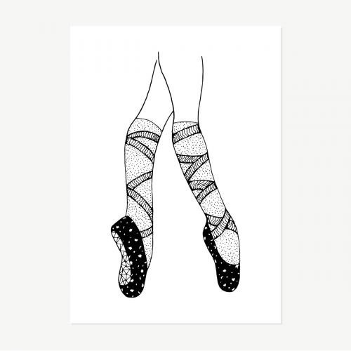 Ballerina feet elegant