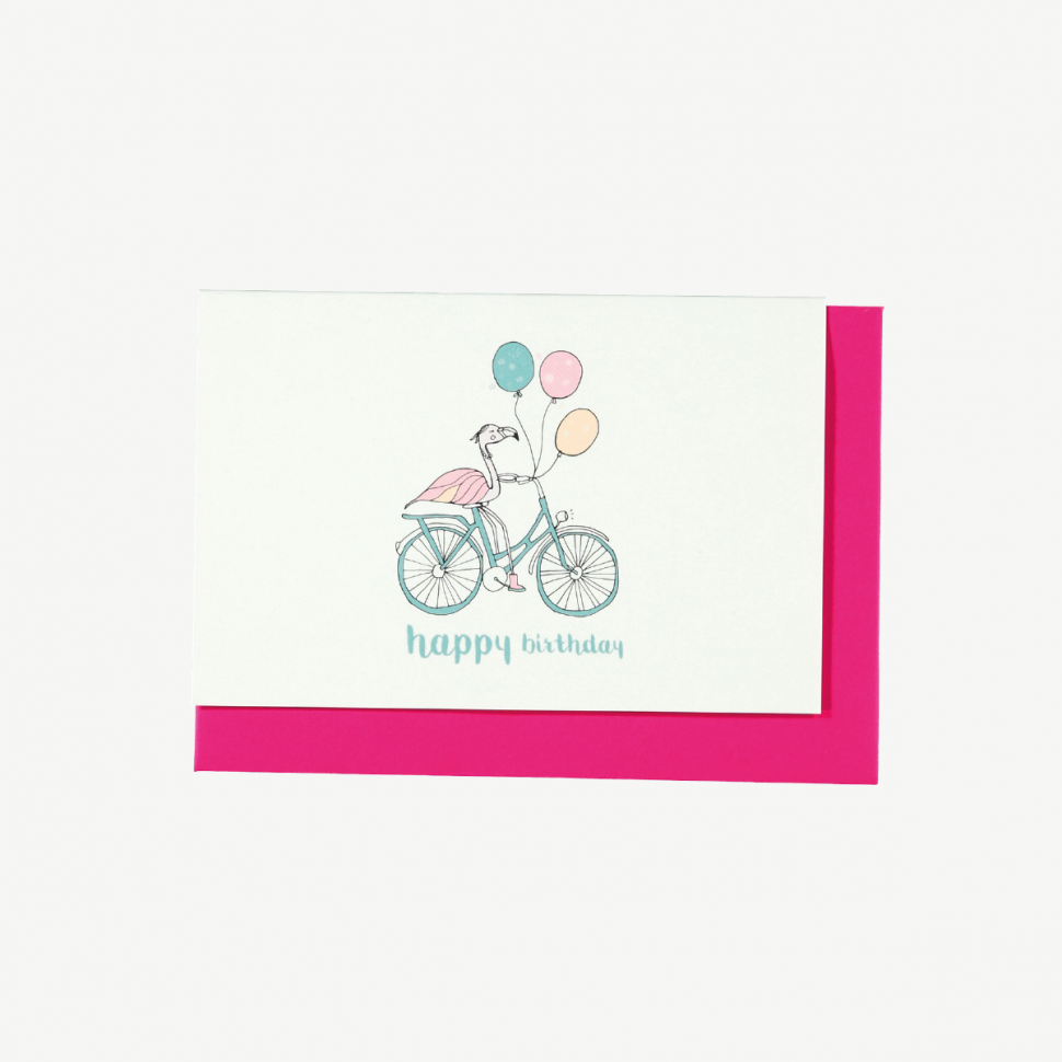 Flamingo Balloons Bike