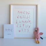 """Flamingo's ABC"" Book + Print"
