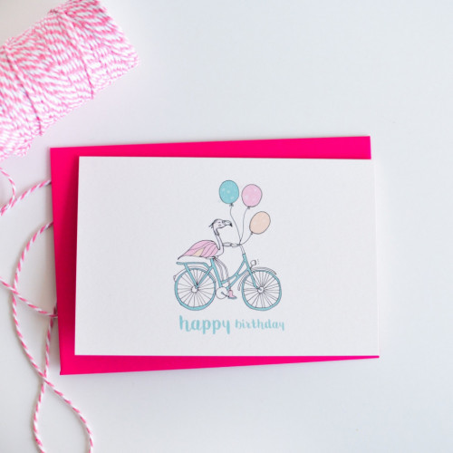 Flamingo Balloons Bike