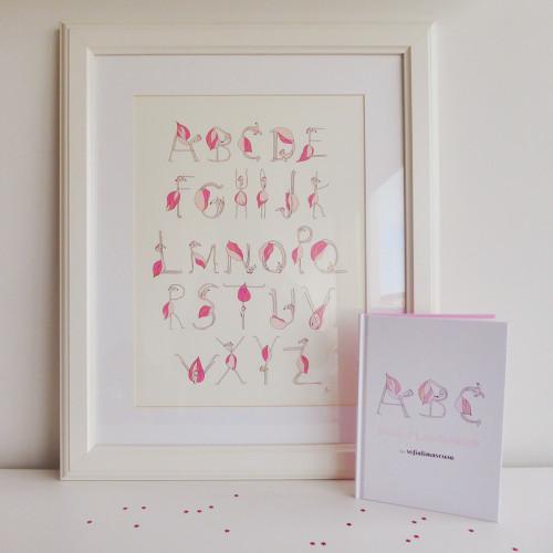 """Livro """"ABC dos Flamingos"""" + Print"""