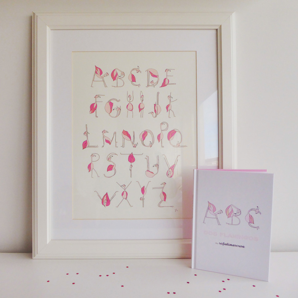 """Flamingo's ABC"" Book + Print"
